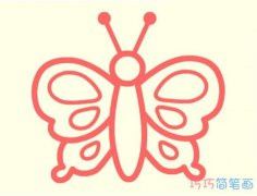 幼儿园彩色蝴蝶简笔画怎么画简单可爱