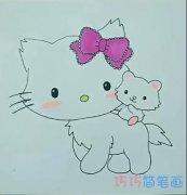 简单卡通可爱小猫的画法简笔画视频教程