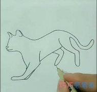 简单小猫的画法简笔画视频教程