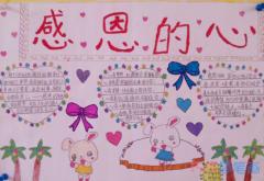 获奖感恩母亲小报感恩的心手抄报怎么画简单漂亮