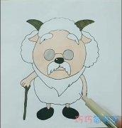 简单卡通最慢慢羊羊的画法简笔画视频教程