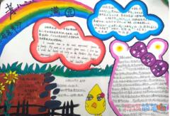 关于爱心回报感恩母亲的手抄报模板设计图简单