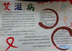 六年级关于直击艾滋病手抄报模板图片简单漂亮