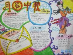关于中秋节快乐月圆中秋手抄报模板图片简单漂亮