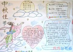 关于欢度中秋嫦娥奔月手抄报怎么画简单漂亮