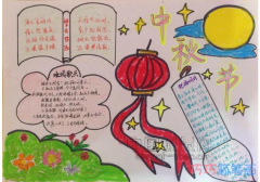 小学生关于中秋习俗灯笼手抄报简笔画简单漂亮