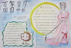 小学生中秋团圆之夜手抄报模板设计图简单漂亮