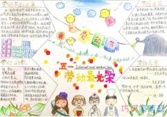 关于五一劳动节的一等奖手抄报模板图片简单漂亮