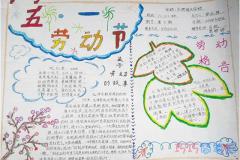 小学生快乐五一劳动节手抄报模板图片简单又漂亮