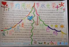 小学生关于节约保护环境的手抄报怎么画简单漂亮