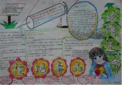 小学生关于齐心协力抗毒的手抄报怎么画简单漂亮