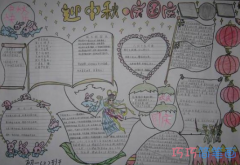 关于喜迎中秋国庆手抄报模板图片简单漂亮