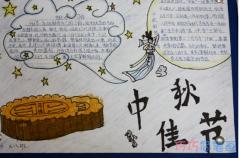 小学生关于中秋节习俗的手抄报怎么画简单漂亮