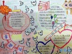 小学生关于欢度国庆手抄报模板图片简单又漂亮