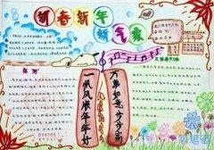 小学生关于喜迎元旦欢度新年的手抄报图片简单又漂亮