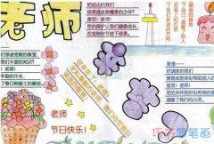 关于感恩老师的手抄报的画法简单漂亮