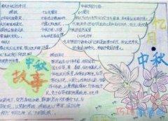 关于中秋节获奖手抄报的画法简单又漂亮
