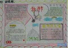 关于老师我想对你说感恩教师节的手抄报简单漂亮
