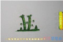 教你怎么画竹子简笔画步骤教程涂颜色