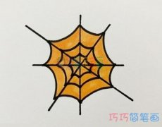 教你怎么画蜘蛛网简笔画教程简单好看