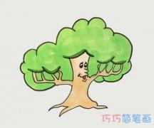 怎么画卡通大树简笔画步骤教程涂色