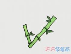 教你如何画竹子简笔画步骤教程涂颜色