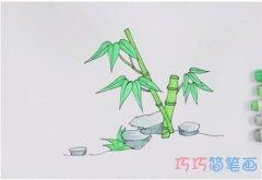手绘竹子简笔画怎么画涂色简单漂亮