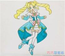 怎么手绘动漫公主简笔画教程涂色简单漂亮