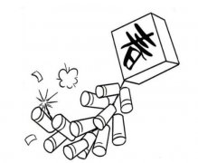怎么画春节炮竹鞭炮简笔画的画法步骤教程