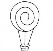 幼儿园简单热气球的画法步骤教程可爱好看