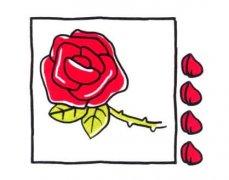 怎么手绘玫瑰花简笔画步骤教程简单又漂亮