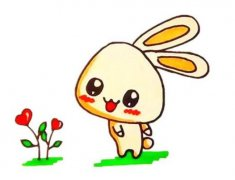 卡通小兔子的简笔画怎么画步骤教程图片