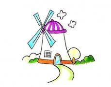 可爱大风车房子简笔画怎么画步骤教程简单好看