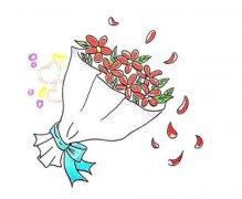 教你画一束鲜花简笔画带步骤涂颜色 鲜花简笔画图片