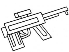 怎么画儿童玩具冲锋枪简笔画简单好看涂颜色