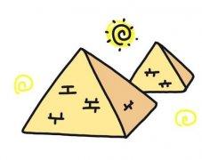 埃及金字塔简笔画怎么画画法步骤教程涂颜色