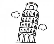 意大利比萨斜塔简笔画怎么画简单好看