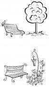 教你画座椅长椅子简笔画怎么画简单好看涂颜色