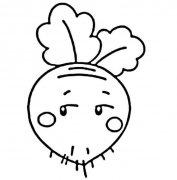 卡通萝卜简笔画图片怎么画 萝卜的画法教程