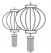 灯笼简笔画图片怎么画 灯笼的画法教程