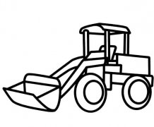 铲车简笔画图片 铲车怎么画简单好看