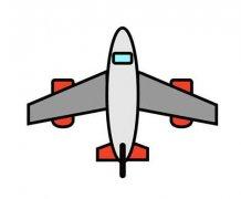 飞机简笔画怎么画涂色 飞机的画法图解教程