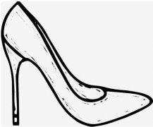 高跟鞋简笔画图片 女生高跟鞋怎么画简单好看