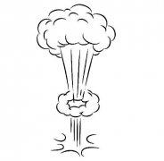 火药大爆炸简笔画怎么画图解 大爆炸简笔画图片