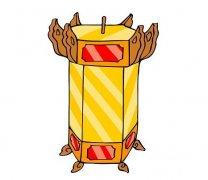 中秋节花灯笼怎么画简单又漂亮彩色