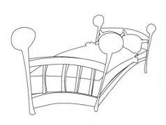 简单好看儿童床怎么画 床简笔画图片