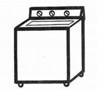 卡通洗衣机简笔画图片 好看洗衣机的画法素描