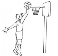 怎样画打篮球小男孩简笔画简简洁好看