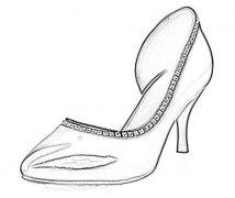 怎样画高跟鞋简笔画手绘简单好看