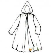儿童雨衣怎么画简单 雨衣简笔画图片